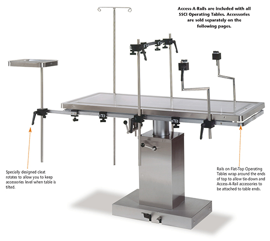 Over instrument table