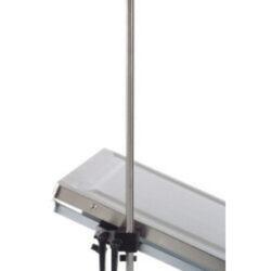 Pivot adj IV pole for accrail