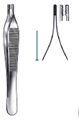 Adson brown forceps 7:7 12cm
