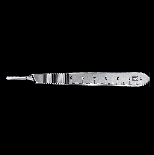 Scalpel handle 3 with scale