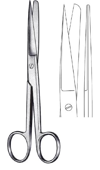 Scissor straight SH/BL 18cm