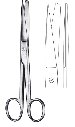 Scissor straight SH/BL 20cm