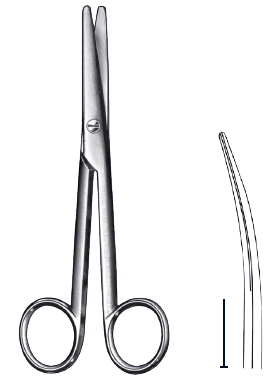 Mayo scissor curved 17cm