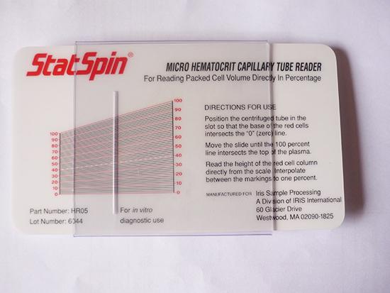Hematocrit tube slide reader