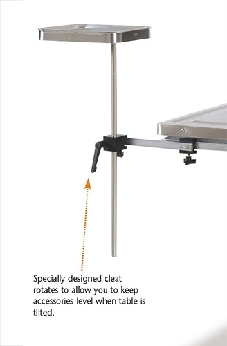S/S pivoting instrument table