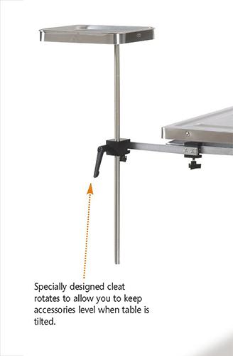 Adj. height instrument table