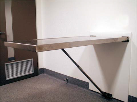 Consult table wall mount